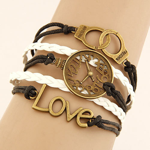 bracelets trendy gold alloy jewellery rose geometry for plated women en crystal