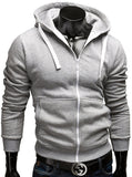 Fashion Brand Hoodies Men Casual Sportswear Man Hoody Zipper Long-sleeved Sweatshirt Men Five Colors Slim Fit  Men Hoodie - Vietees Shop Online