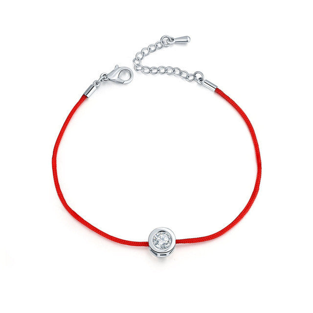 FYM 9 Colors Red Rope Bracelet Round 6mm Cubic Zircon Charm Friendship Bracelets & Bangles for Women Wedding Party Jewelry Gift - Vietees Shop Online
