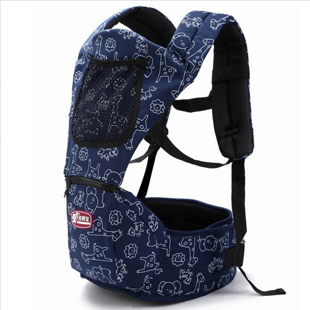 2-36 Months Baby Carrier Hip Seat 2 in 1 Cartoon Cotton Infant Backpack Kids Shoulders Carry Baby Kangaroo Suspender Sling Wrap - Vietees Shop Online