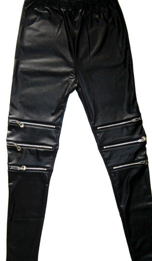 Women Leggings womens lycra FAUX Leather spandex calzas lycra mujer zipper Leggins Sexy Punk Fitness jeggings legins pantalones - Vietees Shop Online