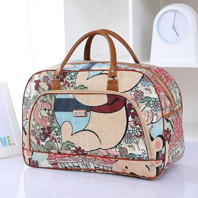Women Travel Bags 2016 Fashion Pu Leather Casual Travel Bags - Vietees Shop Online