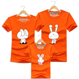 Family Couple T Shirt Cartoon Women Men XL Shirts Kid Summer Short Sleeves Good Rabbit T-Shirts - Vietees Shop Online