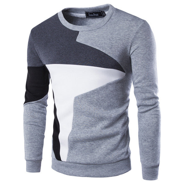 2017 New Autumn Fashion Brand Casual Sweatshirt O-Neck Patchwork Slim Fit Knitting Mens Hoodies And Pullovers Men Pullover 9238 - Vietees Shop Online