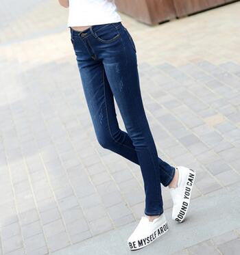 6 EXTRA LARGE Jeans Women Models Two Cuffs Worn Jeans Female Casual Trousers Pencil Pants Jeans Woman High Waist Jeans Plus Size - Vietees Shop Online