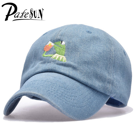 Frog Tea Snapback Kermit None Of My business Dad Hat Lerbon James casquette kenye Big Daddy hat Men Women Girl's Baseball cap - Vietees Shop Online