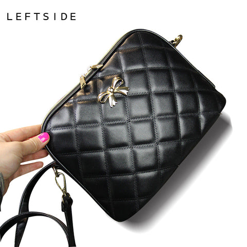 New 2017 Black Bow Plaid Fashion Women CrossBody Bag Female Shoulder Bags Party Purse clutch Small Bag Women Messenger Bags - Vietees Shop Online