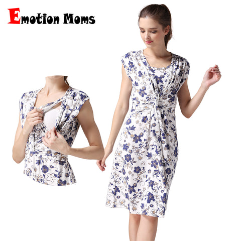 Emotion Moms summer maternity clothes nursing clothing nursing dress - Vietees Shop Online
