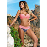 Bikini Set 2017 Summer Low Waist Swimwear Women Sexy Bench Swimsuit Bathing Suit Push Up Biquini Brazilian Maillot De Bain BK312 - Vietees Shop Online