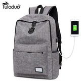 New Design USB Charging Men's Backpacks Male Casual Laptop Backpack - Vietees Shop Online