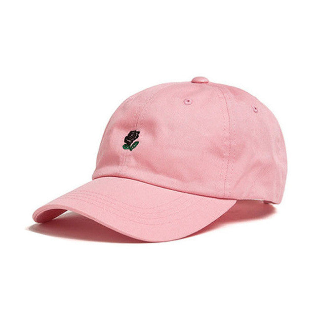871a43ac235 100% Cotton Rose embroidery hat black cap snapback hip hop dad cap designer  hats drake men women Visor hat skateboard gorra bone