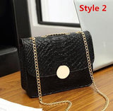 Alligator Crocodile Leather Mini Small Women Crossbody bag chain women's handbag - Vietees Shop Online