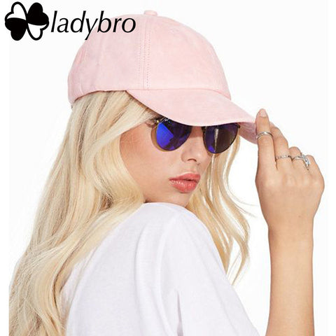 Ladybro Spring Women Hat Cap Casual Ladies Dad Hat Men Brand 6 panel Suede Baseball Cap Bone Male Female Snapback Casquette - Vietees Shop Online