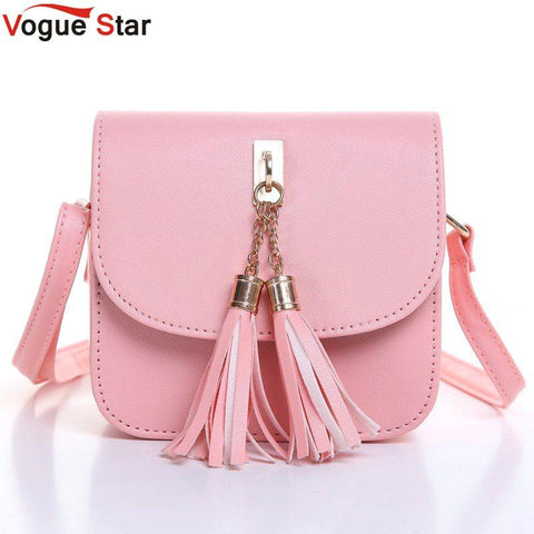 Vogue Star Fashion 2017 Small Chains Bag Women Candy Color Tassel Messenger Bags Female Handbag - Vietees Shop Online