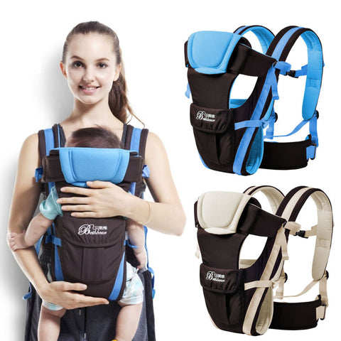 Beth Bear 0-30 months baby carrier, ergonomic kids sling backpack pouch wrap Front Facing multifunctional infant kangaroo bag - Vietees Shop Online