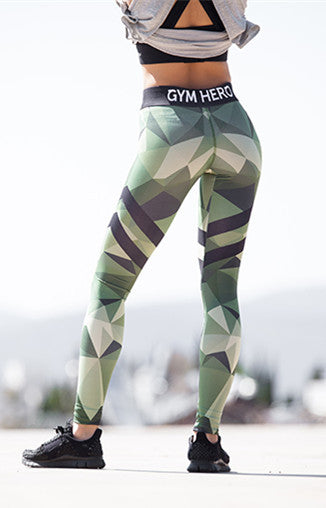 099ed168b1 Mermaid Curve Fitness leggings Women Workout gym Hero Print Yoga Pants  stripe camouflage sports Leggings Fitness Stretch Trouser
