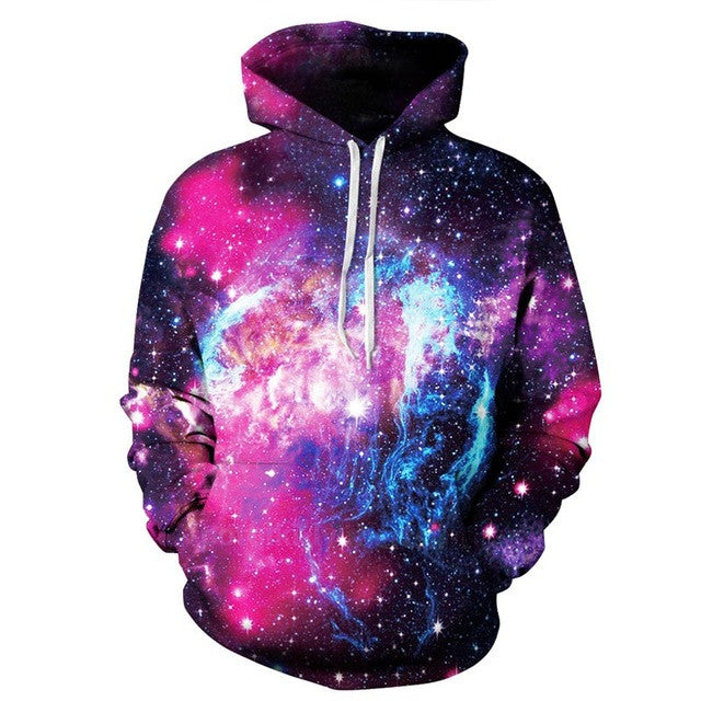 Mr.1991INC Space Galaxy 3d Sweatshirts Men/Women Hoodies With Hat Print Stars Nebula Autumn Winter Loose Thin Hooded Hoody Tops - Vietees Shop Online