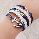 new fashion jewelry infinite double leather multilayer Charm  bracelet factory price for woman jewelry wholesale - Vietees Shop Online