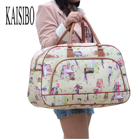 KAISIBO Women Waterproof Travel Bag Summer Style PU Leather Women Bag Travel - Vietees Shop Online