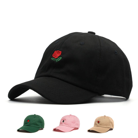 100% Cotton Rose embroidery hat black cap snapback hip hop dad cap designer hats drake men women Visor hat skateboard gorra bone - Vietees Shop Online