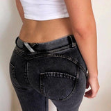 2017 Cotton Jeans For Women Skinny Sexy High Waist Push Up Blue/Black Plus Size Slim Inverno Denim Jeggings Leggings Pants - Vietees Shop Online