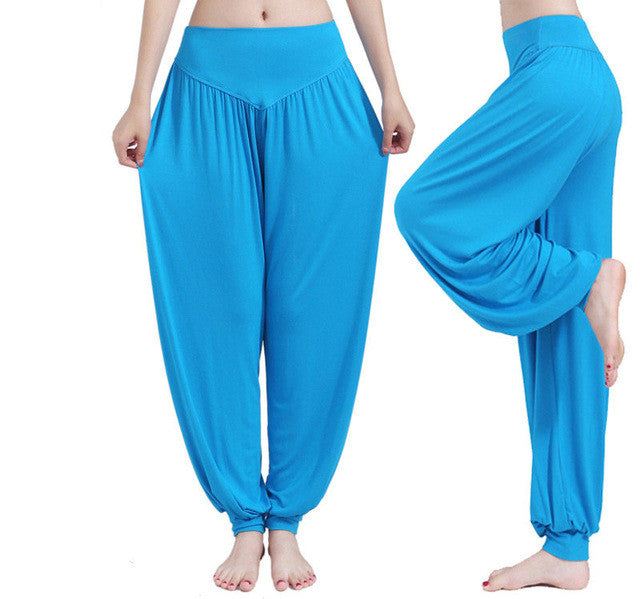 Yoga Pants Women Plus Size Colorful Bloomers Dance Yoga TaiChi Full Length Pants Smooth No Shrink Antistatic Pants Fast Shipping - Vietees Shop Online