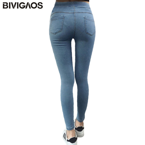 2017 Spring New Basic Skinny Women Jeans Ankle Nine Pants Slim Elastic Denim Pants Leggings Female Cotton Jeggings Jeans Women - Vietees Shop Online