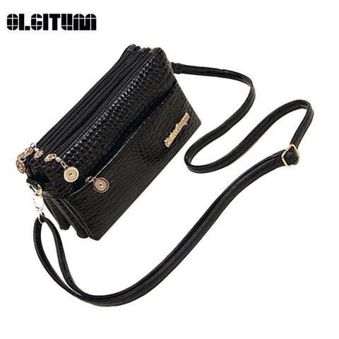 New 2017 Small Shoulder Bag Crocodile Pattern Bag Women Messenger Bags Handbag - Vietees Shop Online