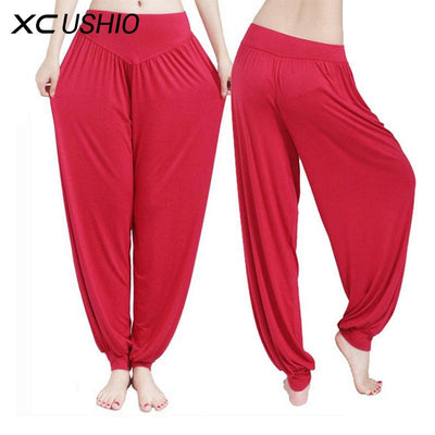 Yoga Pants Women Plus Size Colorful Bloomers Dance Yoga - Vietees Shop Online