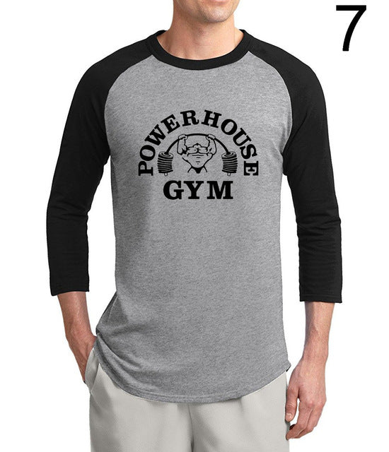 Crossfit And Fitness Powerhouse Loose Fit men t shirt 2017 new summer 3/4 sleeve 100% cotton Gyms Musclefitting raglan t-shirts - Vietees Shop Online