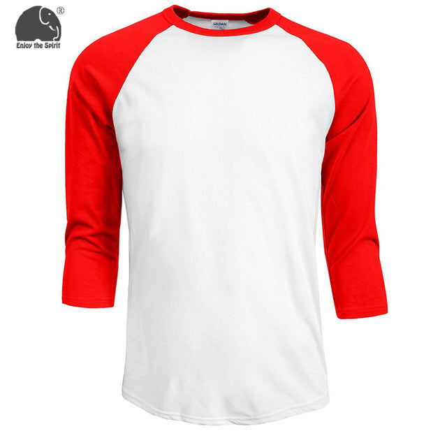 2017 Summer Fashion Classic Apparel Mens T Shirt Patchwork Tee Camisetas Femininas Ropa Mujer Contrast Sleeve Raglan Sleeve Tops - Vietees Shop Online
