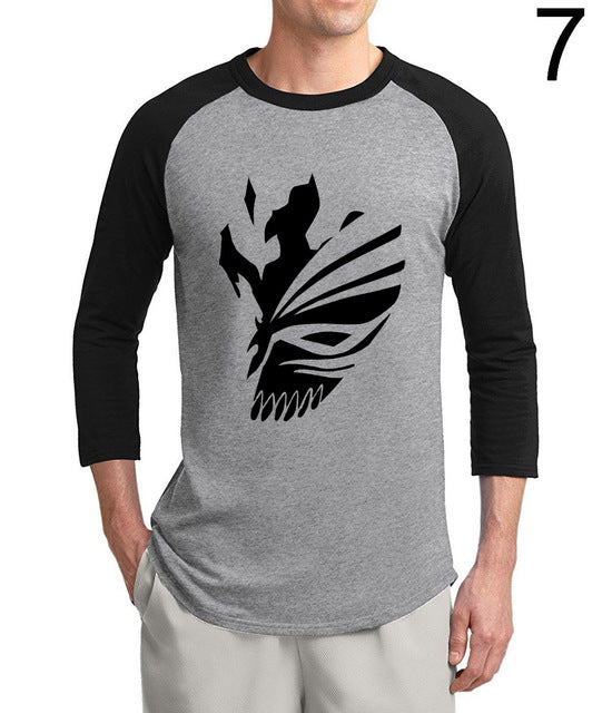 Adult Anime BLEACH Kurosaki Ichigo cartoon tshirt 2017 new summer 3/4 sleeve t shirts 100% cotton raglan men t-shirt for fans - Vietees Shop Online