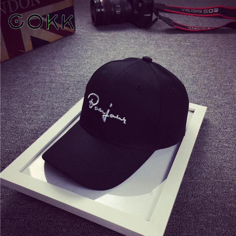 cf47cbb4c08 COKK Black Baseball Cap Women Snapback Embroidery Dad Hats For Men  Casquette Daddy Hat Hip Hop Trucker Cap Bone Female Drake Sun