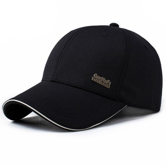 2017 Mens Spring Adjustable Cotton Fitted Baseball Caps Male Simple Black  Formal Snapback Dad Hat Fashion Breathable Truck Hats 31be10bee26