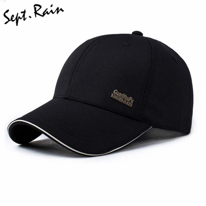 3baa1db48a8 2017 Mens Spring Adjustable Cotton Fitted Baseball Caps Male Simple Black  Formal Snapback Dad Hat Fashion Breathable Truck Hats