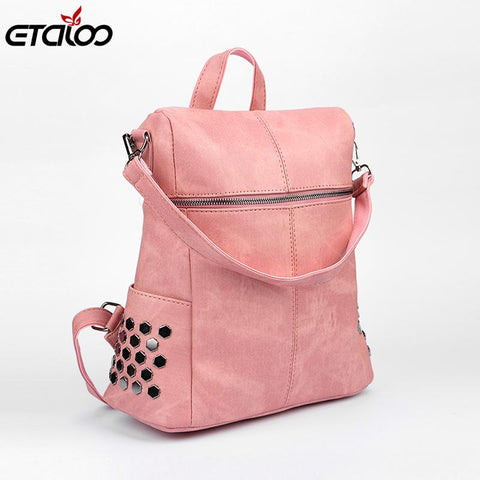 In the spring of 2017 new Korean fashion sun descended with rivet shoulder Laptop Backpack - Vietees Shop Online