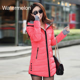 Warm Winter Jackets 2017 Women Fashion Down Cotton Parkas Casual Hooded Long Coat Thickening Parka Zipper Cotton Slim - Vietees Shop Online