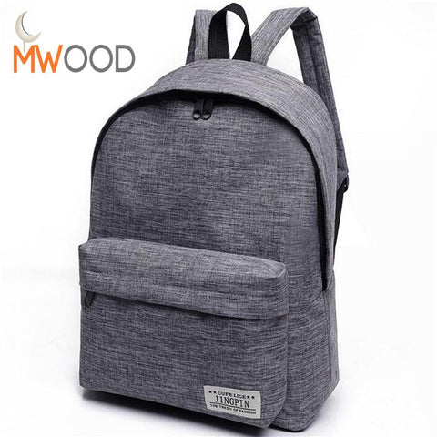 Fashion Simple Canvas Backpack Male High Quality School Laptop Backpack Female Travel Bagpack - Vietees Shop Online