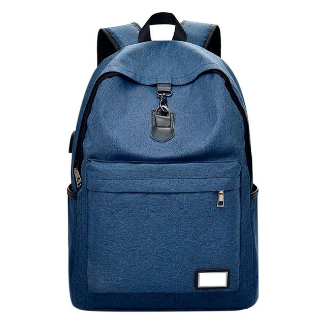 External USB Charging Backpack Men Canvas Backpack Mochila Escolar Multifunction Laptop Backpacks - Vietees Shop Online
