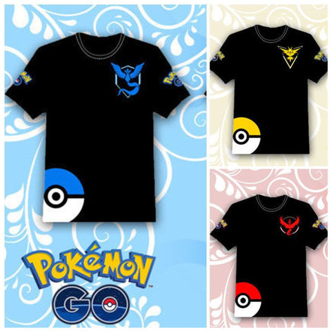 Hot 2016 POKEMON GO Shirt Team INSTINCT Mystic Valor Funny t shirt Mens T-shirts Cotton Tee Tops Casual Brand Clothing 8109 - Vietees Shop Online