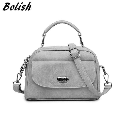 Bolish Nubuck Leather Women handbag Vintage Women Messenger Bag Fashion Lock Female Shoulder Bag - Vietees Shop Online