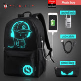 Raged Sheep School Backpack Student USB Charge Computer Anti-theft Laptop Backpack - Vietees Shop Online