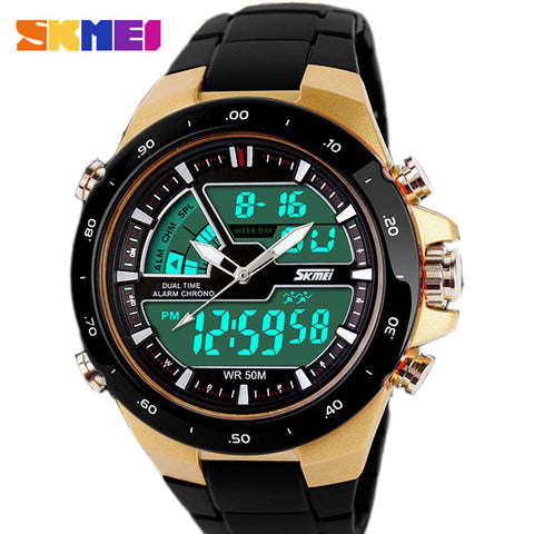 Men Sport Watch Relogio Masculino Waterproof Silicone quartz-watch Clock Male - Vietees Shop Online