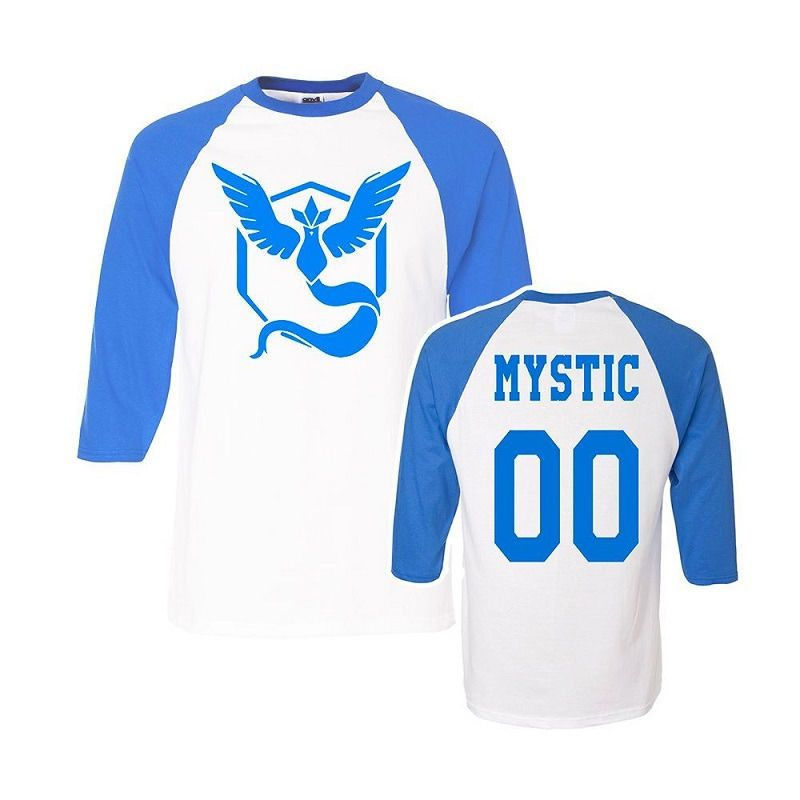 Brand new 2016 Pokemon Go mens t shirt Team Valor Team Mystic Team Instinct Pokeball T shirts Red Blue Yellow tops - Vietees Shop Online