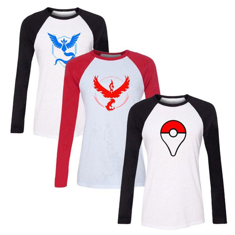 Autumn Pokemon Go Team Valor Team Mystic Team Instinct Pokeball T shirt Red Blue Yellow men ash ketchum trainer - Vietees Shop Online