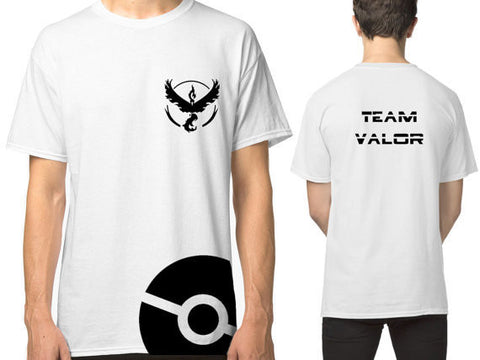 Pokemon Go Team Valor Team Mystic Team Instinct Pokeball T shirt Red Blue Yellow Men Women Ash Ketchum Trainer FN031 - Vietees Shop Online