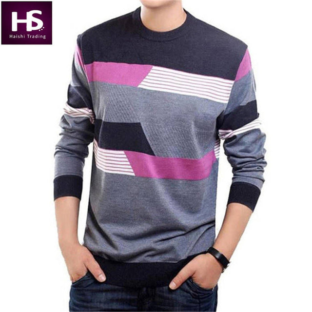 e824ec427e O-Neck Sweater Men Clothing Mens Sweaters Wool Cashmere pullover Men Brand  Pull Casual -