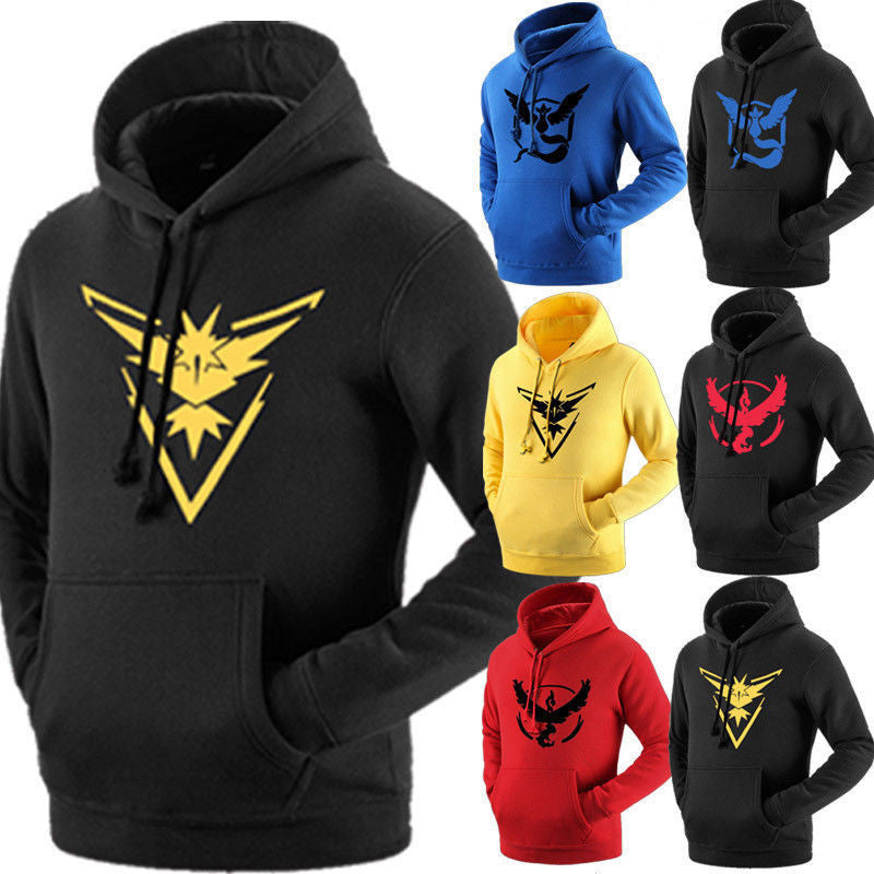 Pokemon Go Team Valor Team Mystic Team Instinct Pokeball Men's Hoodies Autumn Warm Clothes tracksuit outwear - Vietees Shop Online