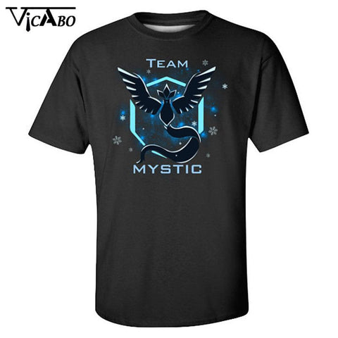 2016 Team Instinct Pokemon Go Tees Men Women Short Sleeve T Shirt Mystic Team Tops Clothes Fashion Casual Summer Sports T Shirt - Vietees Shop Online