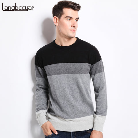 2017 New Autumn Winter Fashion Brand Clothing Men's Sweaters O-Neck Slim Fit Men Pullover - Vietees Shop Online